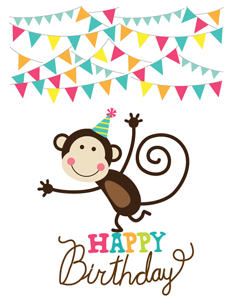 Monkey Birthday GIFs - Find & Share on GIPHY