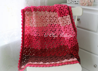 Cherry Chip Caron Cakes Blanket