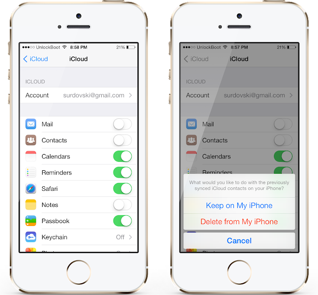 Delete iCloud Contacts