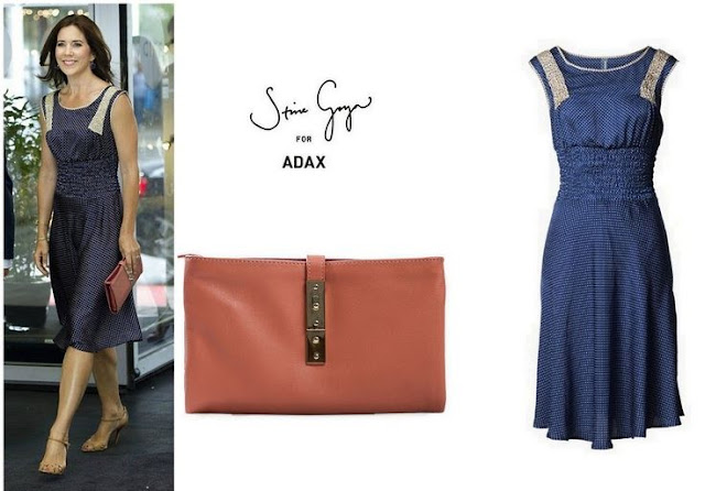 Crown Princess Mary's Signe Bogelund Jensen Dress & ADAX Clutch