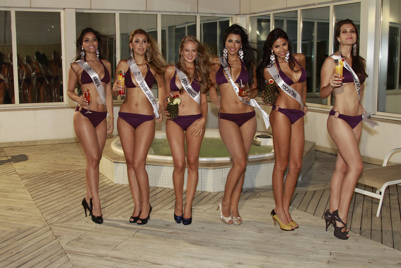 As seis finalistas do Miss Mundo Brasil 2012