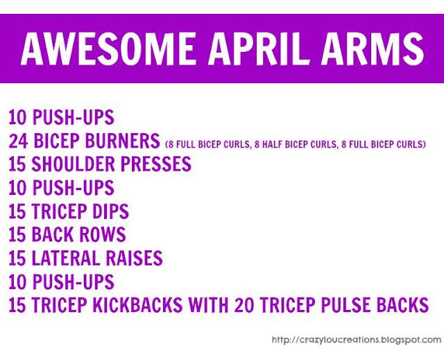 arm exercise printable