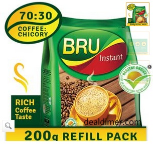 Get Complimentary Recharges worth upto Rs.50 on purchase of Bru Instant Coffee