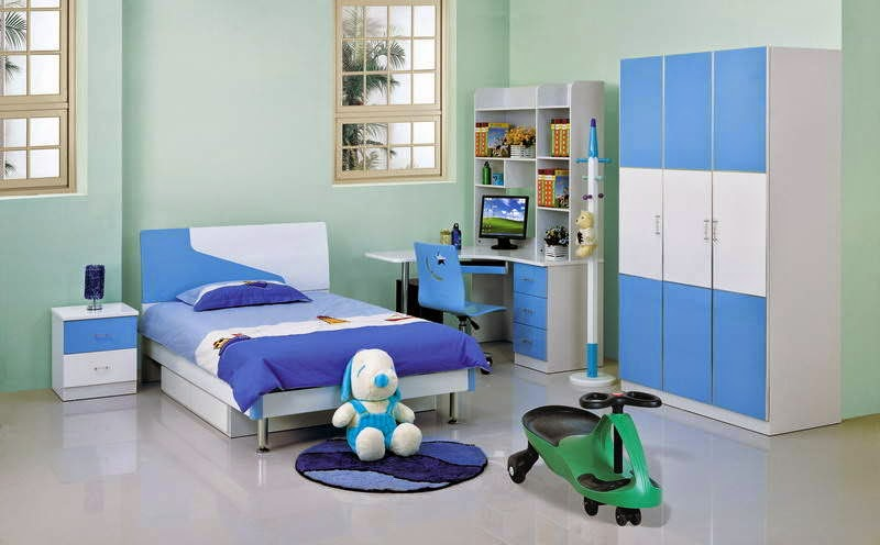 Simple-Blue-Kids-Bedroom-Designs