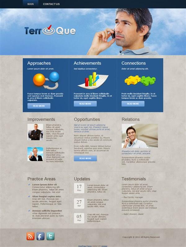 TerroQue - Free Wordpress Theme