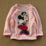 Disney L/S tee PINK Minnie