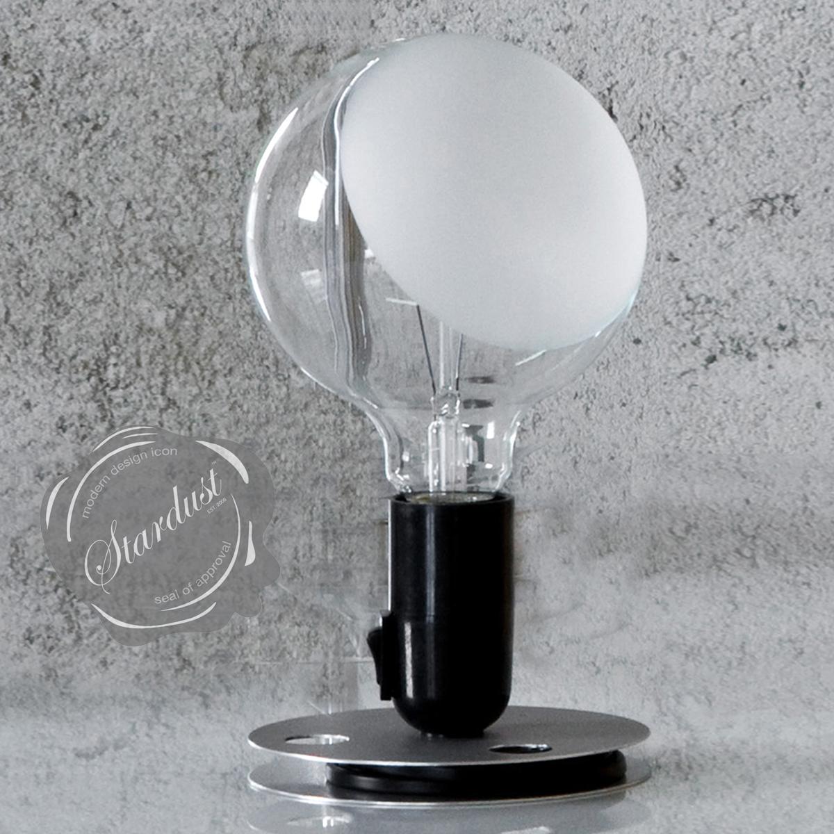 Lampadina transparent bulb light by flos for Castiglioni light