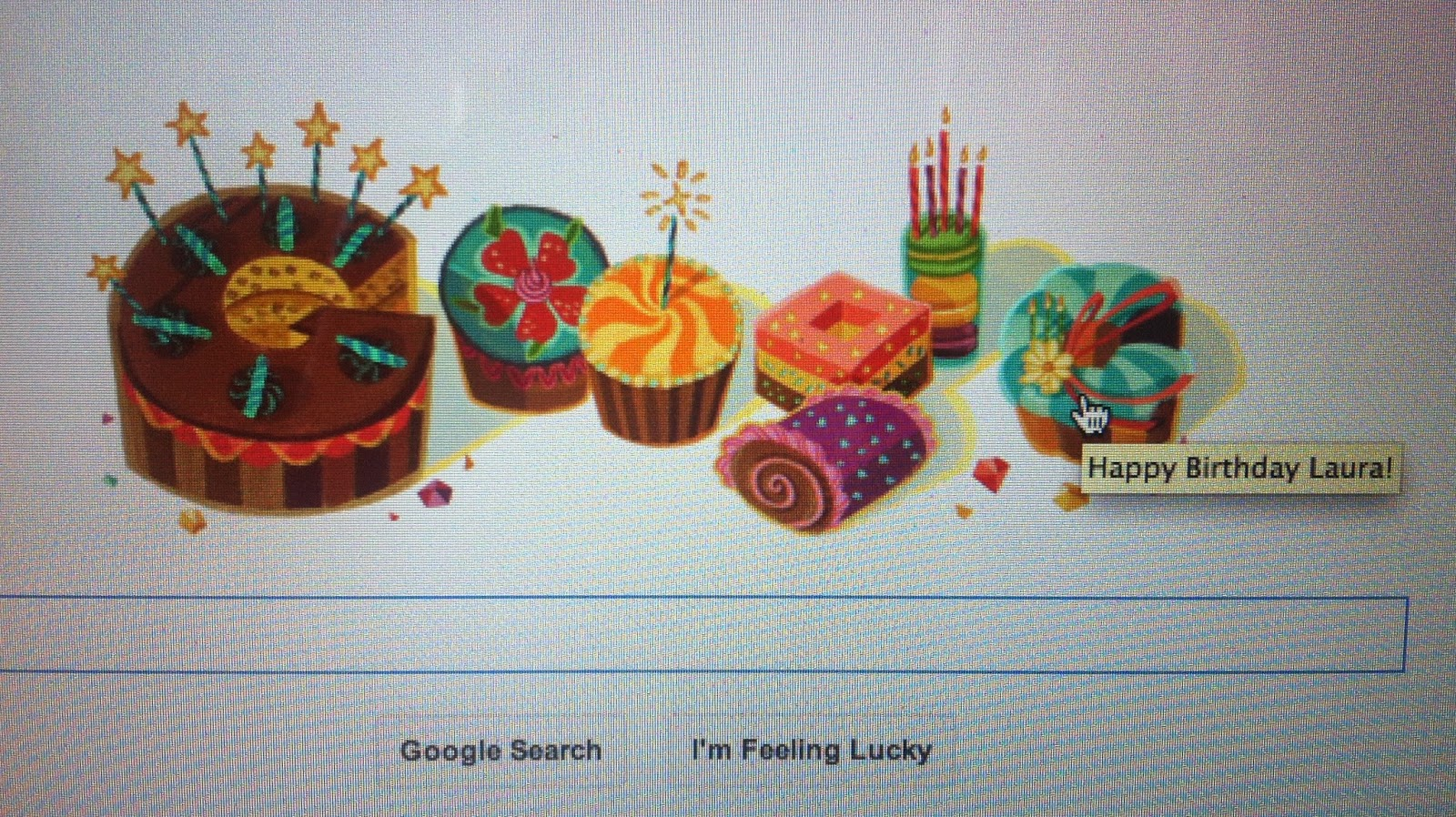 Google said Happy Birthday!