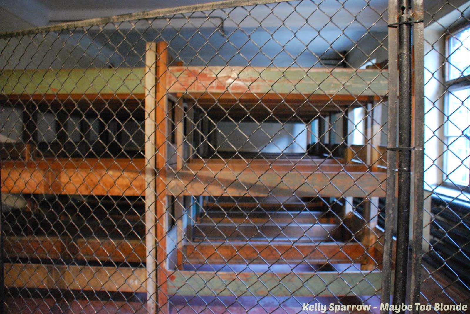 Auschwitz concentration camp barracks