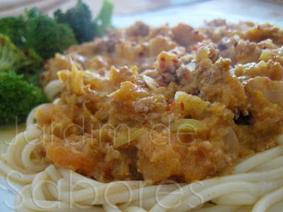 Esparguete com Molho à Bolonhesa de Carne e Legumes