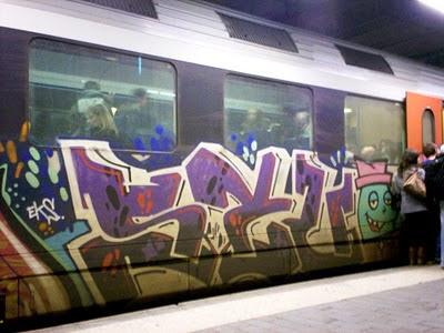 EKS Airbrush Mural on Train