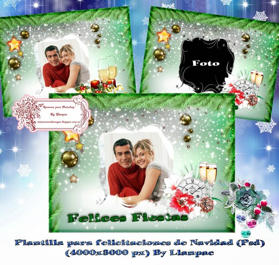 Recursos Photoshop Llanpac: Plantilla para felicitaciones navideñas ...