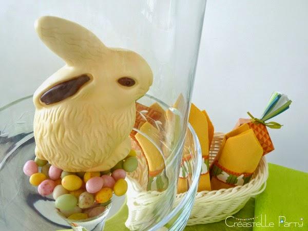 lapin décoratif en chocolat pour la Sweet table lapin de Pâques