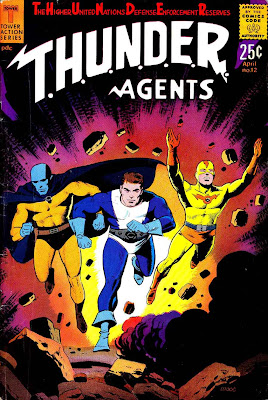 Thunder Agents v1 #12 tower silver age 1960s comic book cover art by Wally Wood