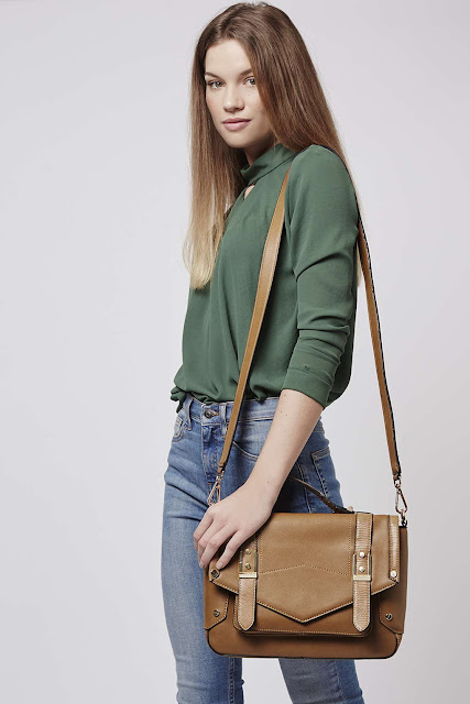 tan satchel bag topshop, tan cross body bag,