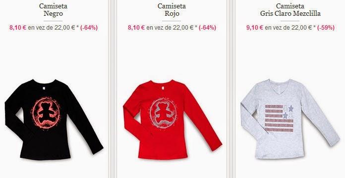 Ejemplos de camisetas para niñas disponibles en esta oferta