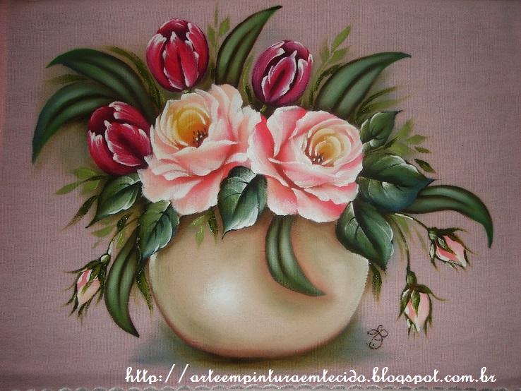 Fotos De Pinturas De Flores - Como pintar con acrílicos Cuadro Flores en el jardin
