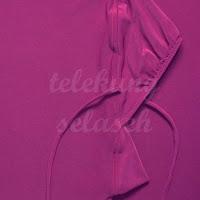 Telekung lycra ungu manggis getah bahagian muka