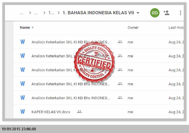 RENCANA pelaksanaan pembelajaran (RPP) Silabus kurikulum 2013 BAHASA INDONESIA KELAS VII