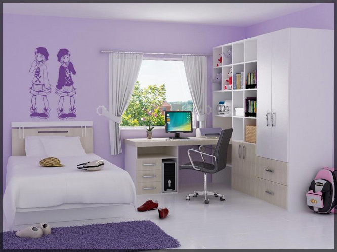 Room decorations for girls in lilac color interior for Bedroom ideas lilac