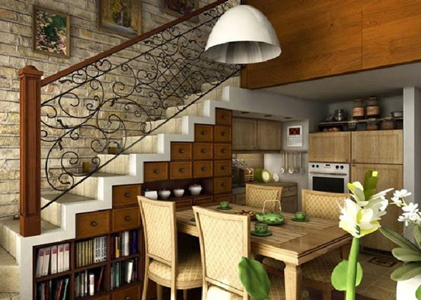 Decotips under the stairs decoraci n - Muebles bajo escalera ...