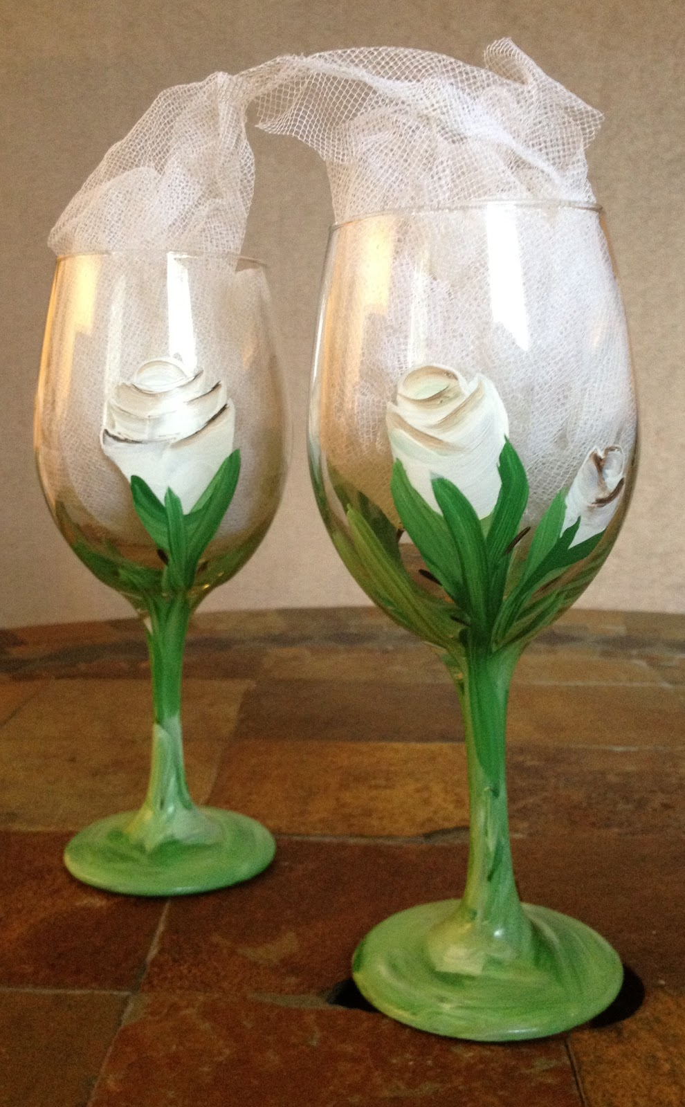 Becca 39 s big art super sale on hand painted wine glasses Images of painted wine glasses