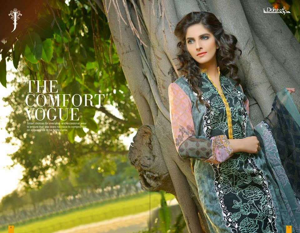 Doha Lawn Kurti Collection 2015