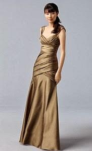 Vestidos de Fiesta Modernos,  Dorados, Largos