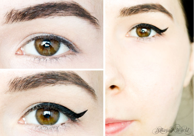 hooded eyes eyeliner tutoriall before&after
