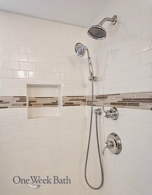 Desain shower Kamar Mandi Modern Putih