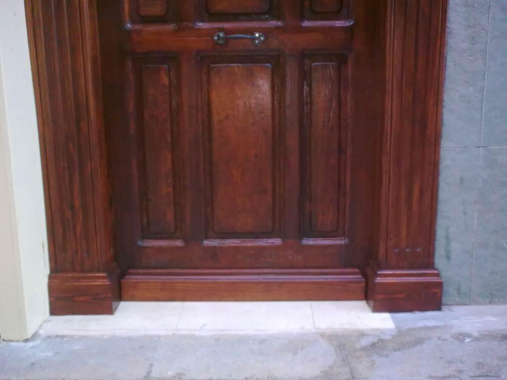 restauraci n de puerta de comunidad muebles cansado