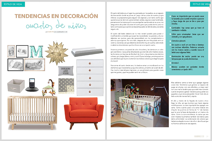 revista Blogirls2.0 nota Stylistinaction cuartos de niños