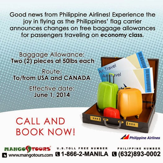 Philippine Airlines' NEW free baggage allowance