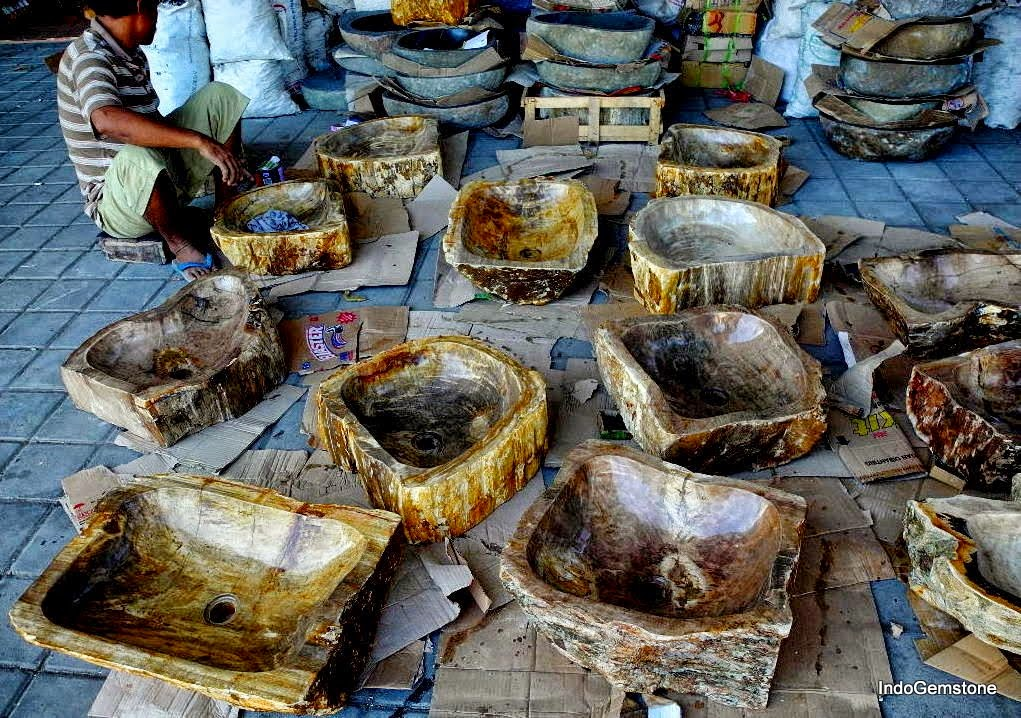 ... Worldu0027s Greatest Brands Produce Their Goods From Only The Finest  Natural Materials Such As IndoGemstone. Our Sinks Are Made From Genuine Petrified  Wood.