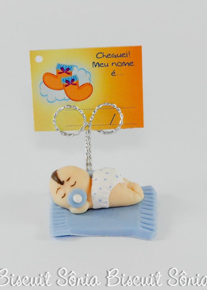 lembrancinha de nascimento biscuit
