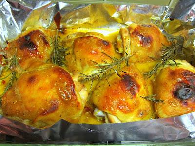 Honey Mustard Chicken Thighs with rosemary