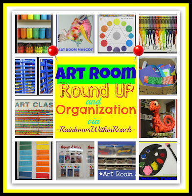 photo of: Art Room RoundUP and Organization via RainbowsWithinReach