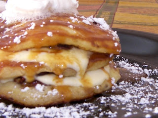 Bob Evans Copycat Recipes: Caramel Banana Pecan Cream Pancakes