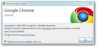 Google Chrome browser Setup/Installer Error
