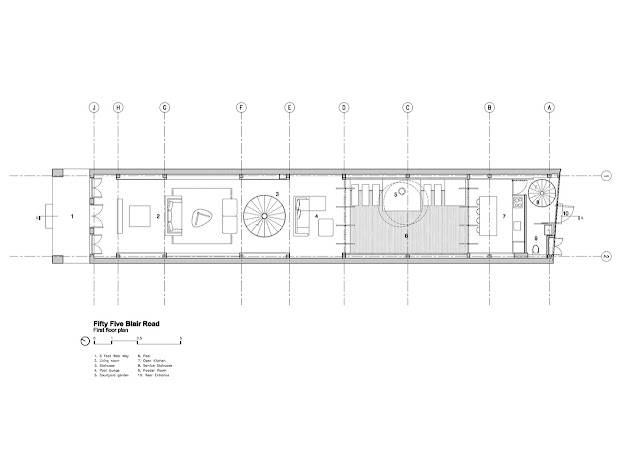 Ground floor plan of the minimalist house