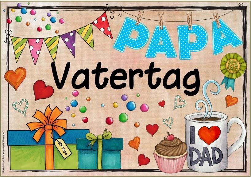 Ideenreise plakate special days nun auch auf deutsch teil 1 - Bastelideen zum vatertag grundschule ...