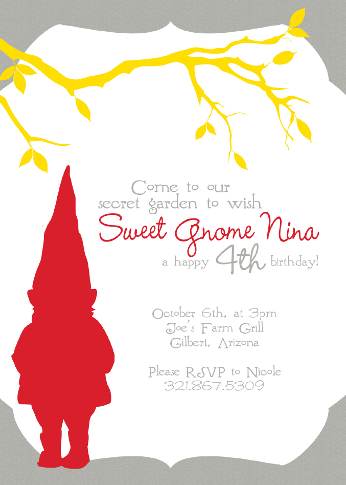Real Parties A Fall Gnome Birthday Party – Fall Birthday Party Invitations