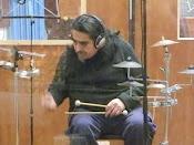 Carlitos Rivero grabando su disco en Casa Frida