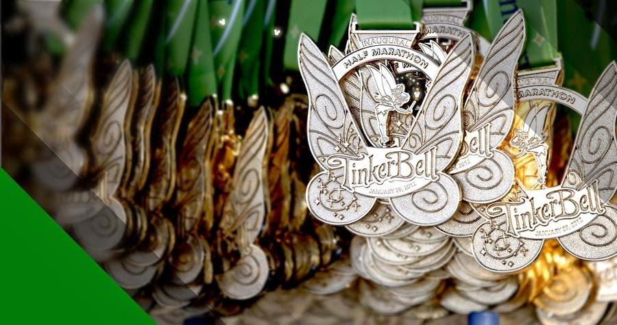 Tinker Bell Half Marathon Medal