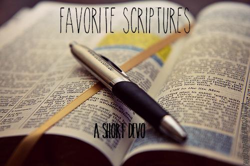 favorite scriptures ; a short devo on 1 Tim 4:12