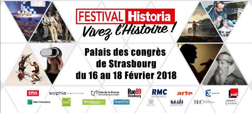 Festival Historia<br>Plongez dans l'Histoire<br>le temps d'un week-end à Strasbourg !