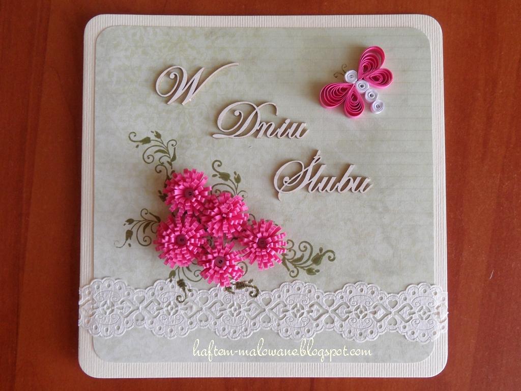 Rękodzieło Z Pasją Quilling Kartki ślubne
