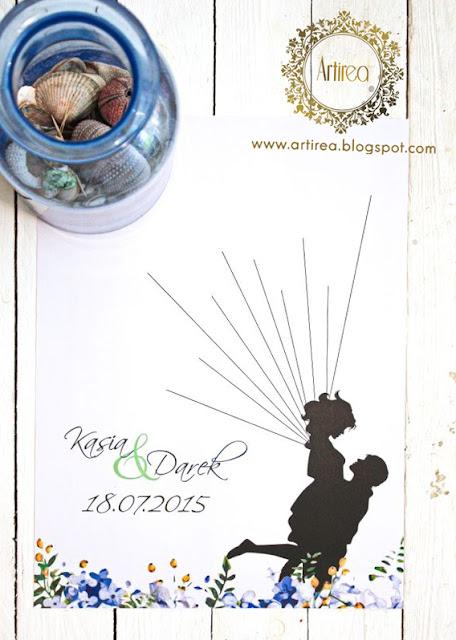 Księga gości weselnych odciski palców