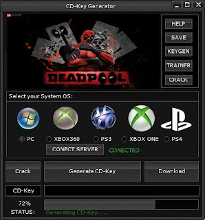 Deadpool CD Key Generator (Free CD Key)