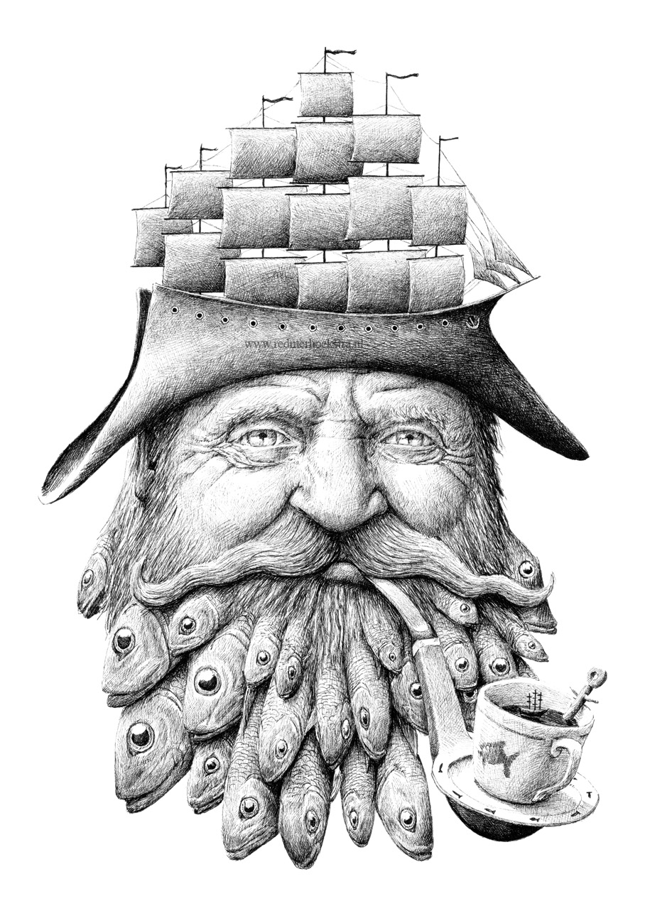20-Sailor-Redmer-Hoekstra-Drawing-Fantastic-and-Surreal-World-of-Hoekstra-www-designstack-co
